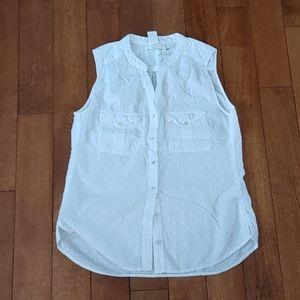 🌸3/$30🌸 H&M White eyelet sleeveless blouses sz 6